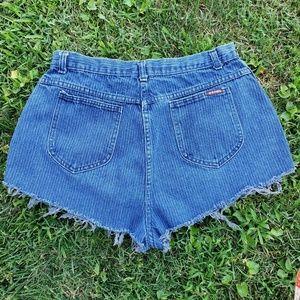 Pants - Vintage Super High Rise Cutoff Fringed Mom Shorts
